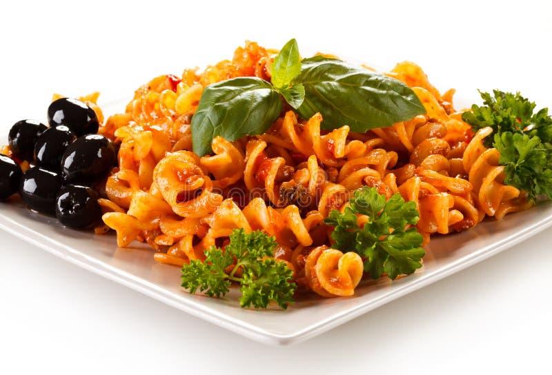 Ζυμαρικά με τα λαχανικά στοκ φωτογραφία με δικαίωμα ελεύθερης χρήσης