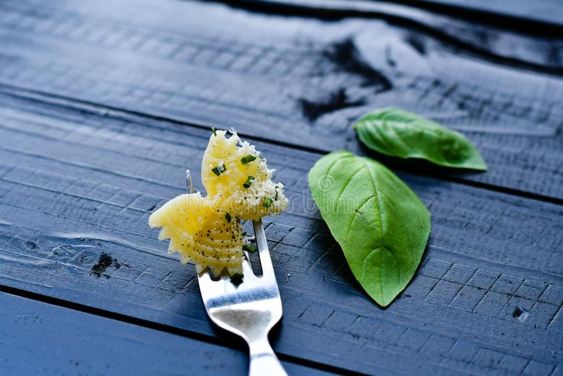 Ζυμαρικά Farfalle στοκ εικόνα με δικαίωμα ελεύθερης χρήσης
