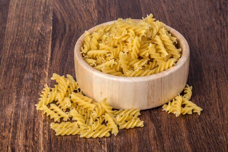 Ζυμαρικά Fusilli στοκ φωτογραφίες