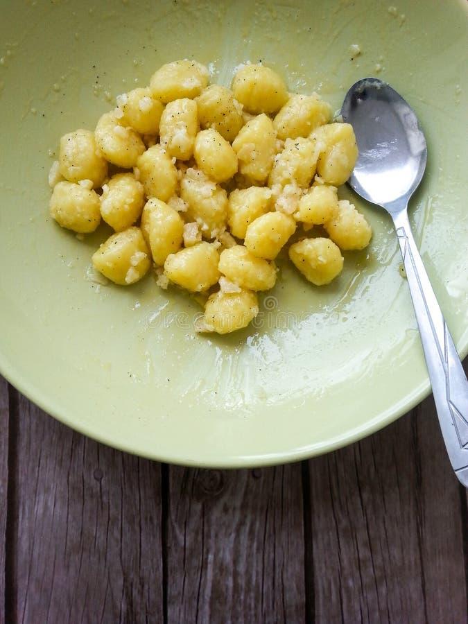 Ζυμαρικά Gnocchi στοκ φωτογραφίες
