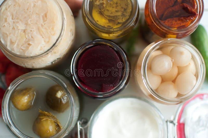 Ζυμωνομμένη συλλογή τροφίμων στοκ εικόνες με δικαίωμα ελεύθερης χρήσης