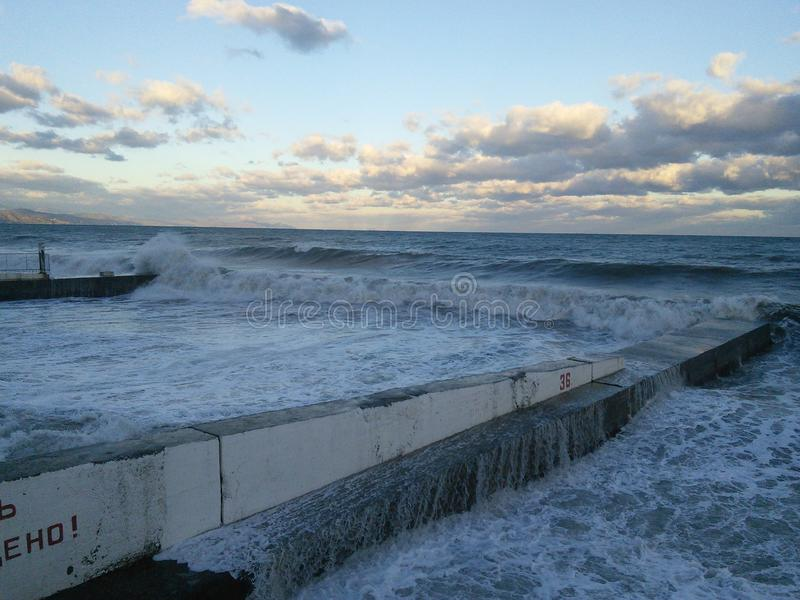 ζυμώνομαοντας θάλασσα στοκ εικόνες