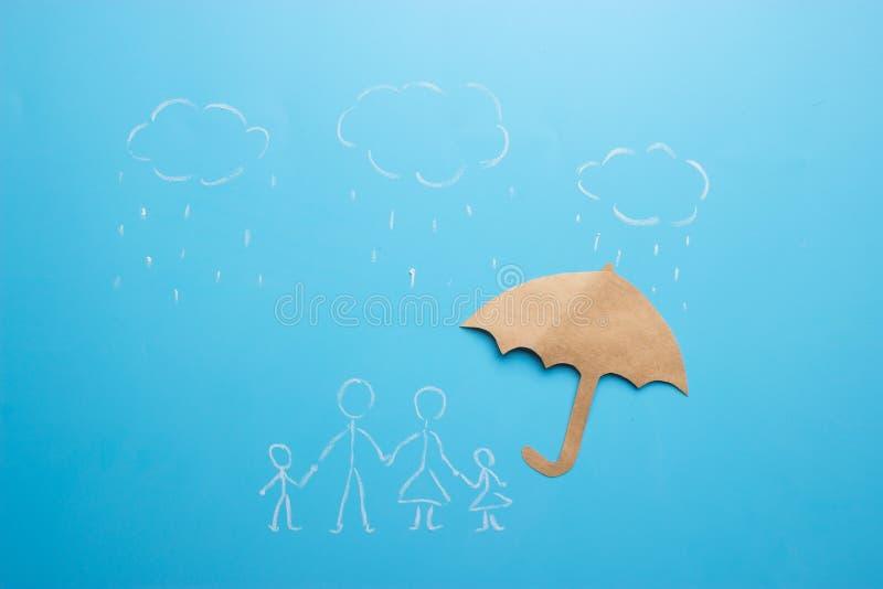 Ζωή και οικογενειακή ασφάλεια - έννοια ασφάλειας στοκ εικόνες με δικαίωμα ελεύθερης χρήσης