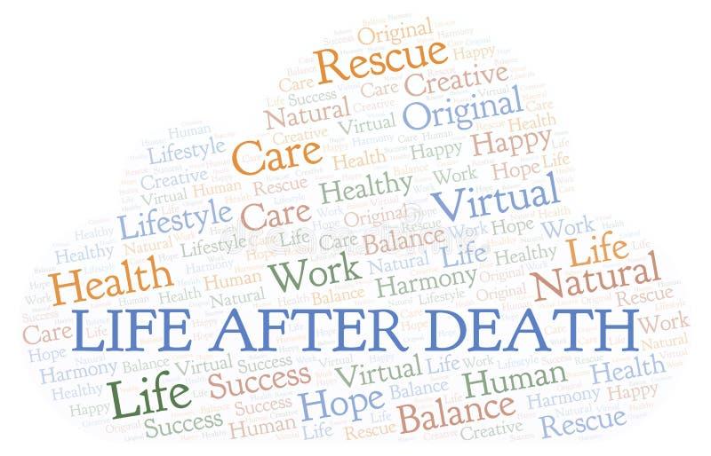 Ζωή μετά από το σύννεφο λέξης θανάτου απεικόνιση αποθεμάτων