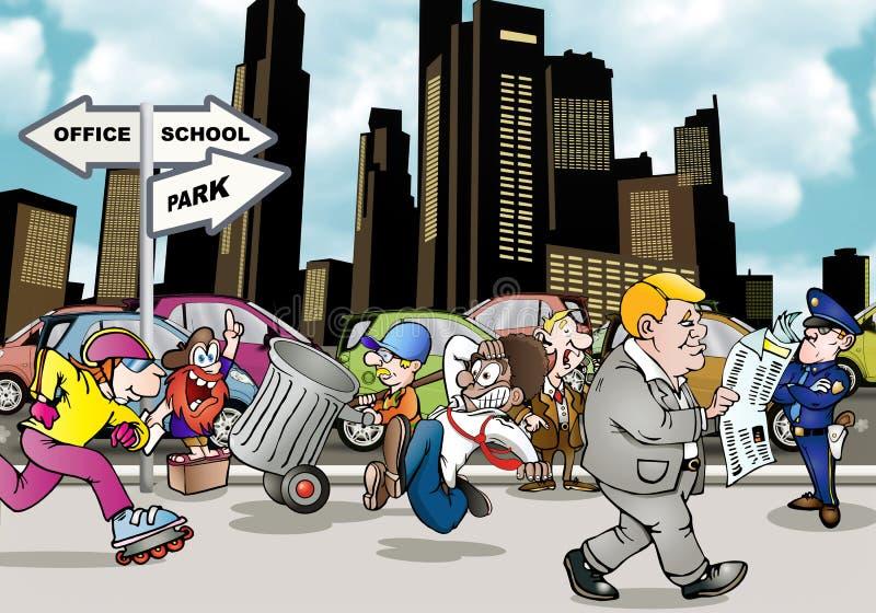 Ζωή πόλεων διανυσματική απεικόνιση