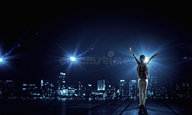 Ζωή πόλεων νύχτας στοκ φωτογραφίες με δικαίωμα ελεύθερης χρήσης