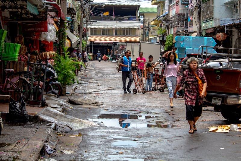 Ζωή στους δρόμους Ταϊλάνδη ανθρώπων της Μπανγκόκ στοκ εικόνες