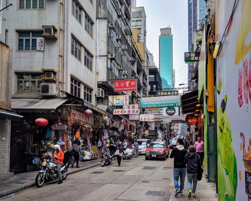 Ζωή στους δρόμους Χονγκ Κονγκ στοκ εικόνες
