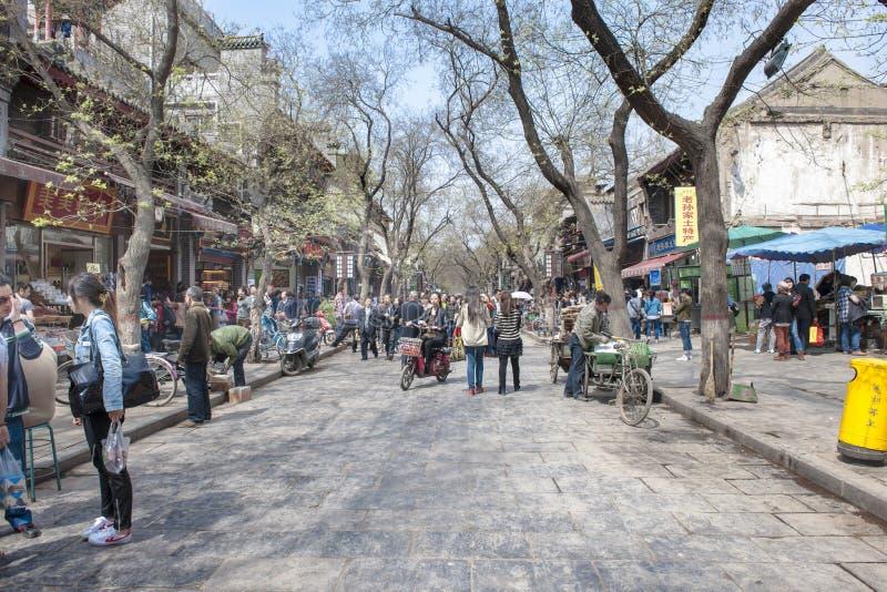Ζωή στους δρόμους στο κέντρο της πόλης Xian, Κίνα στοκ εικόνες με δικαίωμα ελεύθερης χρήσης