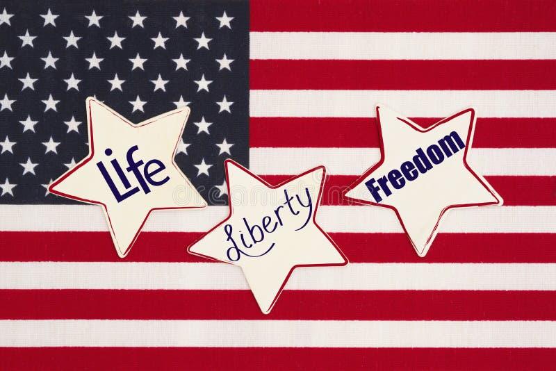 Ζωή των Ηνωμένων Πολιτειών της Αμερικής, ελευθερία και μήνυμα ελευθερίας στοκ φωτογραφίες με δικαίωμα ελεύθερης χρήσης
