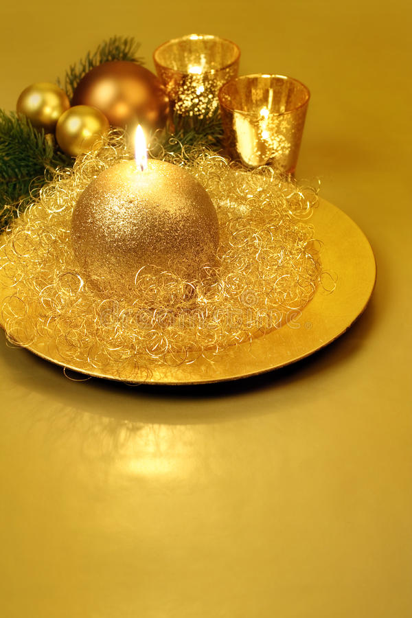 ζωή Χριστουγέννων κεριών α στοκ φωτογραφία με δικαίωμα ελεύθερης χρήσης