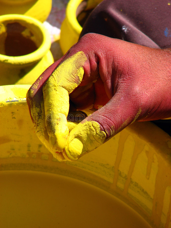 ζωγράφοι χεριών στοκ φωτογραφία