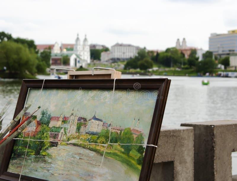Ζωγράφος πόλεων στοκ εικόνες