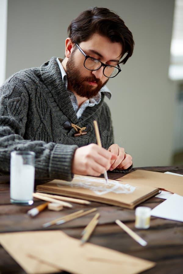 ζωγράφος στοκ φωτογραφία