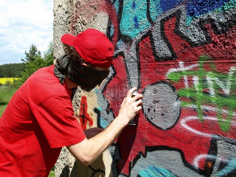 ζωγράφος graffity στοκ εικόνες