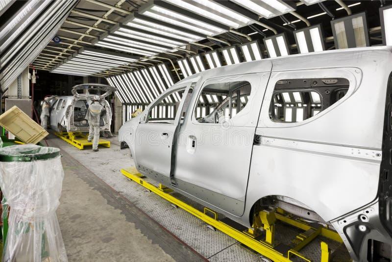 Ζωγραφική αυτοκινήτων εργοστασίων στοκ φωτογραφία με δικαίωμα ελεύθερης χρήσης