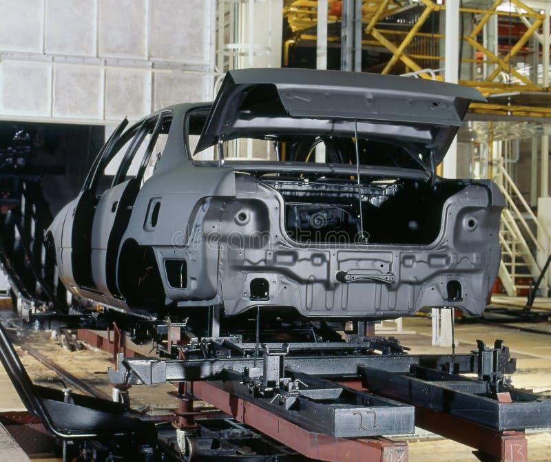 Ζωγραφική αυτοκινήτων εργοστασίων στοκ φωτογραφία