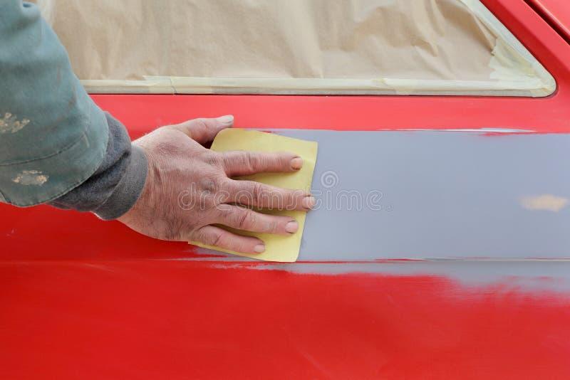 Ζωγραφική αυτοκινήτων στοκ εικόνα με δικαίωμα ελεύθερης χρήσης