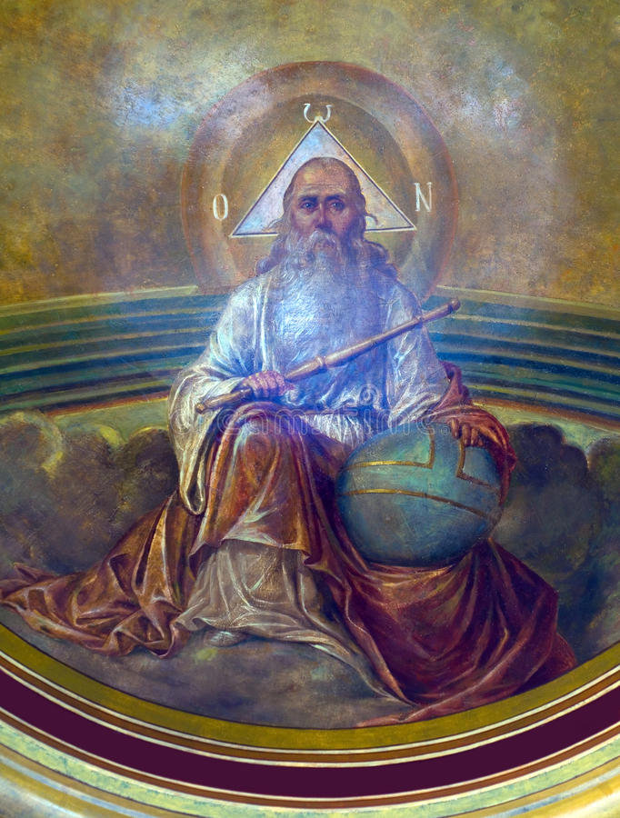 Ζωγραφική εκκλησιών - Θεός στοκ εικόνα με δικαίωμα ελεύθερης χρήσης