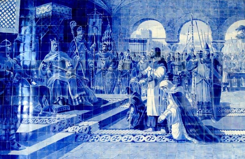 Ζωγραφική κεραμιδιών του Πόρτο στοκ εικόνα με δικαίωμα ελεύθερης χρήσης