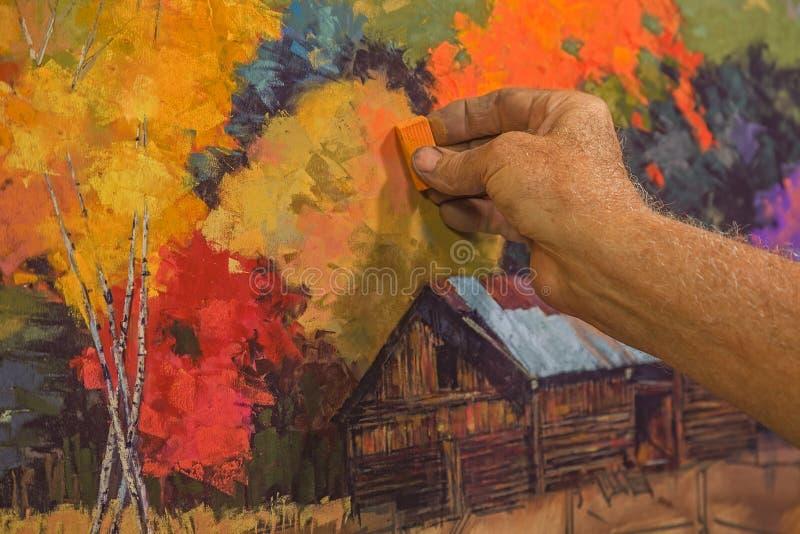 Ζωγραφική κρητιδογραφιών στοκ εικόνα