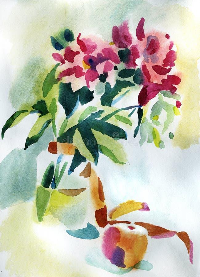 ζωγραφική λουλουδιών ελεύθερη απεικόνιση δικαιώματος