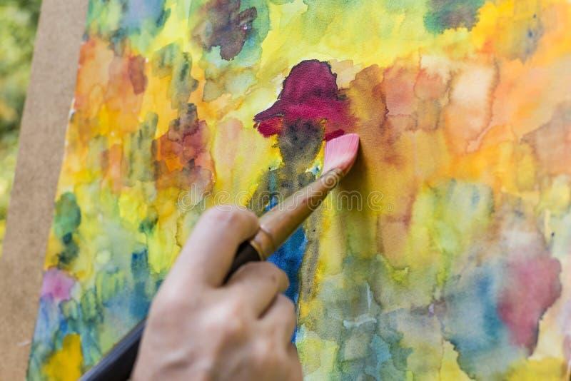 Ζωγραφική με τα υδατοχρώματα στοκ φωτογραφίες με δικαίωμα ελεύθερης χρήσης