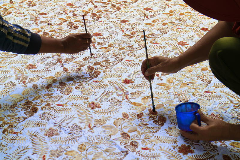 Ζωγραφική μπατίκ στοκ φωτογραφία με δικαίωμα ελεύθερης χρήσης
