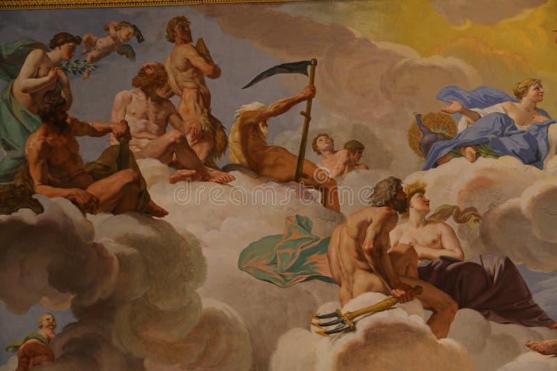 Ζωγραφική σε Galleria Borghese Ρώμη απεικόνιση αποθεμάτων