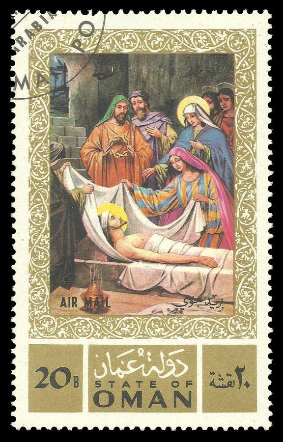 Ζωγραφική στα θρησκευτικά θέματα από τη ζωή του Ιησούς Χριστού στοκ φωτογραφία