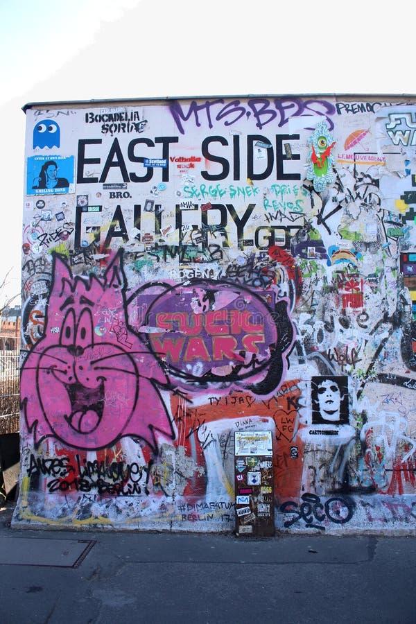 Ζωγραφική στοών ανατολικών πλευρών, Βερολίνο, Γερμανία στοκ φωτογραφία με δικαίωμα ελεύθερης χρήσης