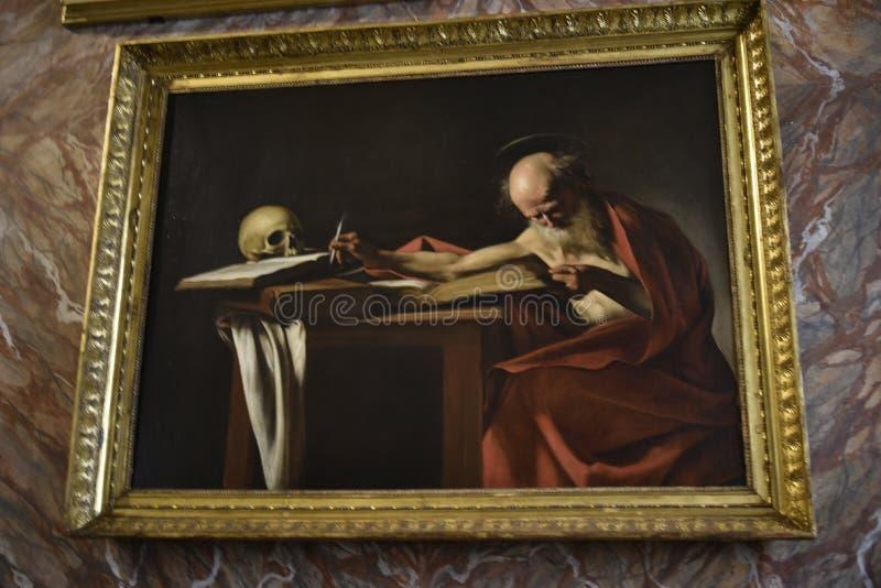 Ζωγραφική στο Galleria Borghese Ρώμη Ιταλία στοκ φωτογραφίες
