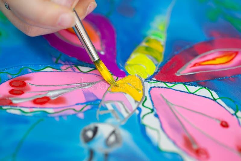 ζωγραφική τεμαχίων μπατίκ στοκ εικόνες