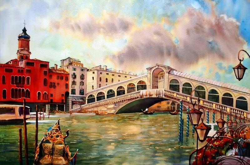 Ζωγραφική της Βενετίας Ιταλία ελεύθερη απεικόνιση δικαιώματος