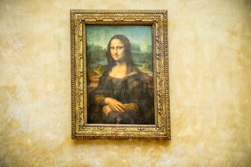 Ζωγραφική της Mona Lisa στοκ φωτογραφία με δικαίωμα ελεύθερης χρήσης