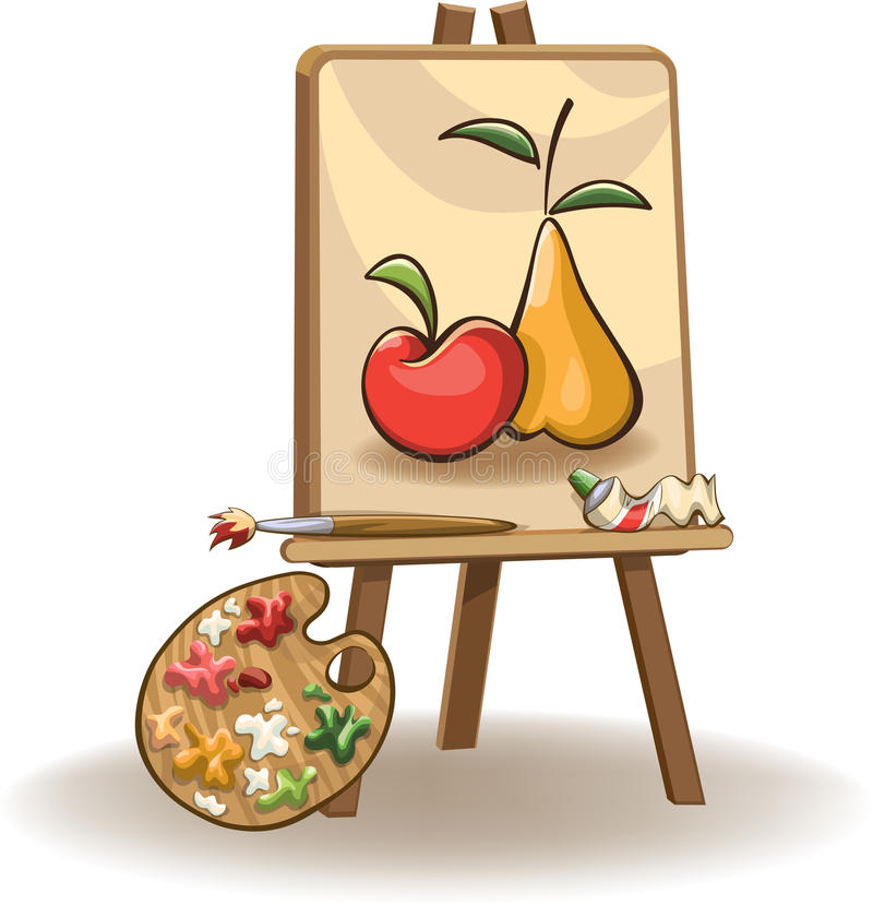 Ζωγραφική easel διανυσματική απεικόνιση