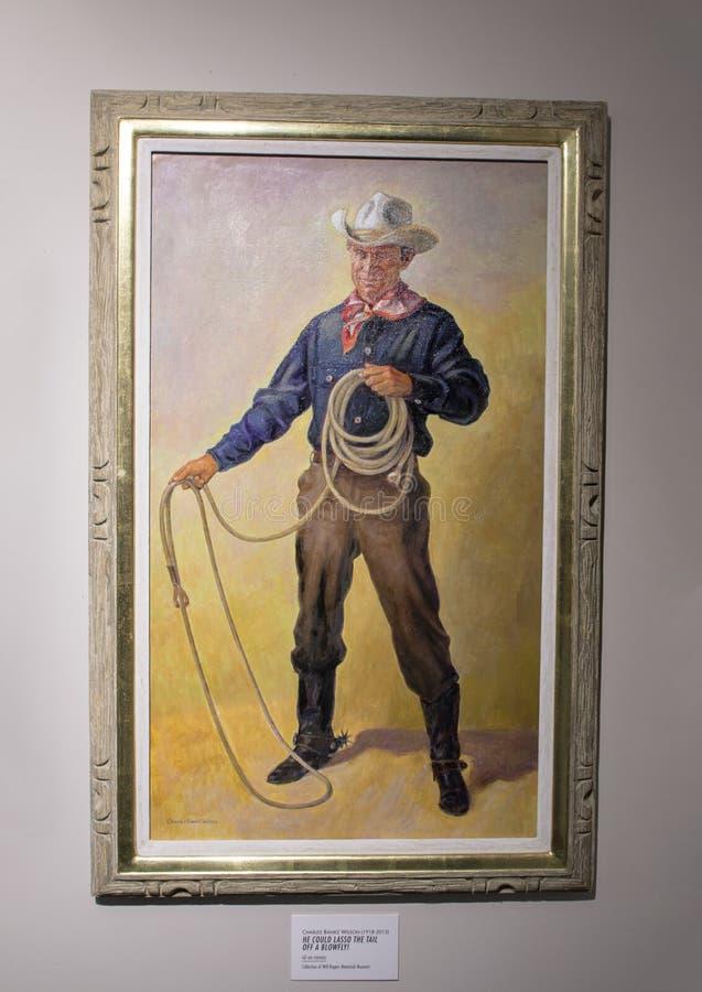 Ζωγραφική Rogers από τις τράπεζες Wilson, Claremore, Οκλαχόμα του Charles στοκ εικόνα