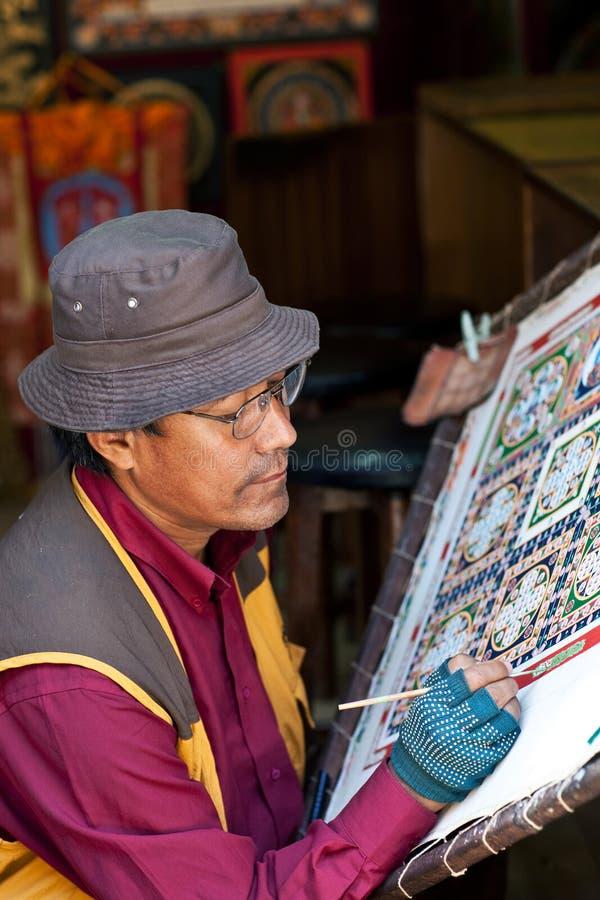 Ζωγραφική Thangka στοκ φωτογραφία με δικαίωμα ελεύθερης χρήσης
