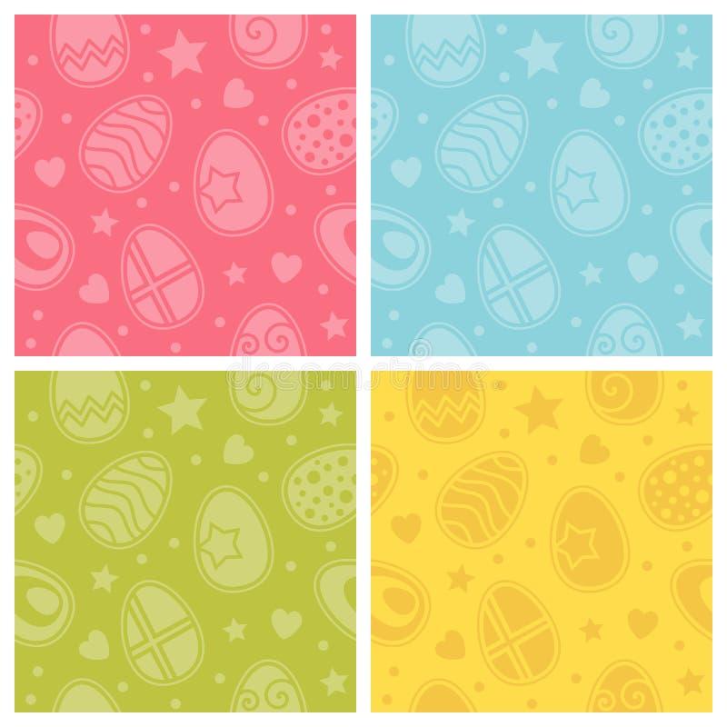 Ζωηρόχρωμα άνευ ραφής σχέδια αυγών Πάσχας ελεύθερη απεικόνιση δικαιώματος