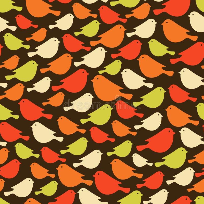 Ζωηρόχρωμα άνευ ραφής σχέδια πουλιών. ελεύθερη απεικόνιση δικαιώματος