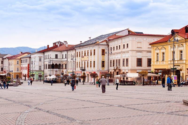 Κύριο τετράγωνο SNP σε Banska Bystrica, Σλοβακία στοκ εικόνα με δικαίωμα ελεύθερης χρήσης