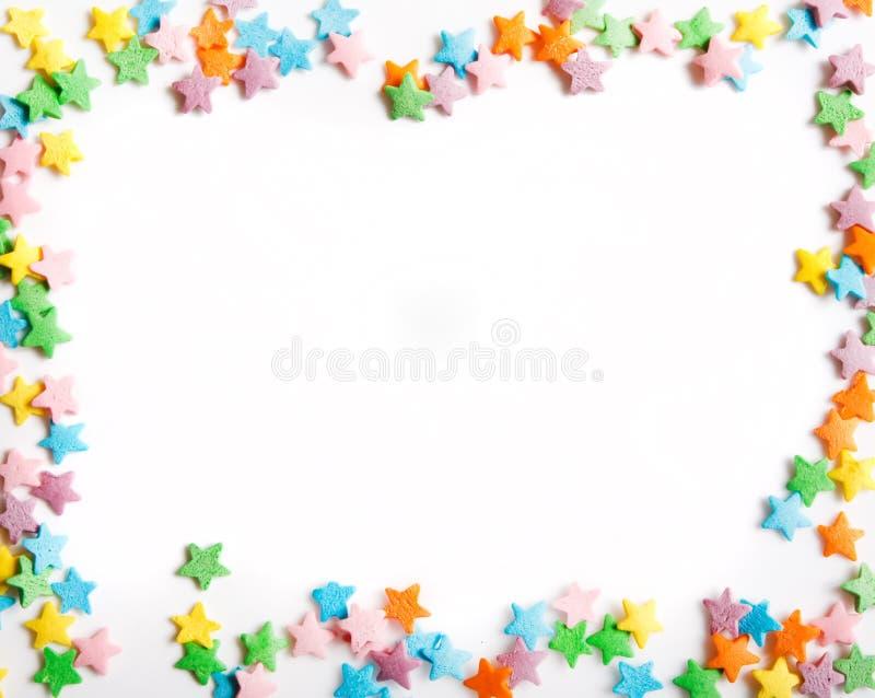 ζωηρόχρωμα αστέρια καραμ&epsilon στοκ φωτογραφία με δικαίωμα ελεύθερης χρήσης