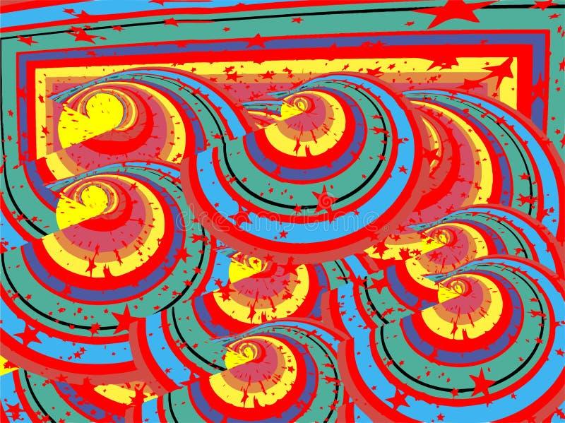 Ζωηρόχρωμα αστέρια κύκλων στοκ εικόνες με δικαίωμα ελεύθερης χρήσης