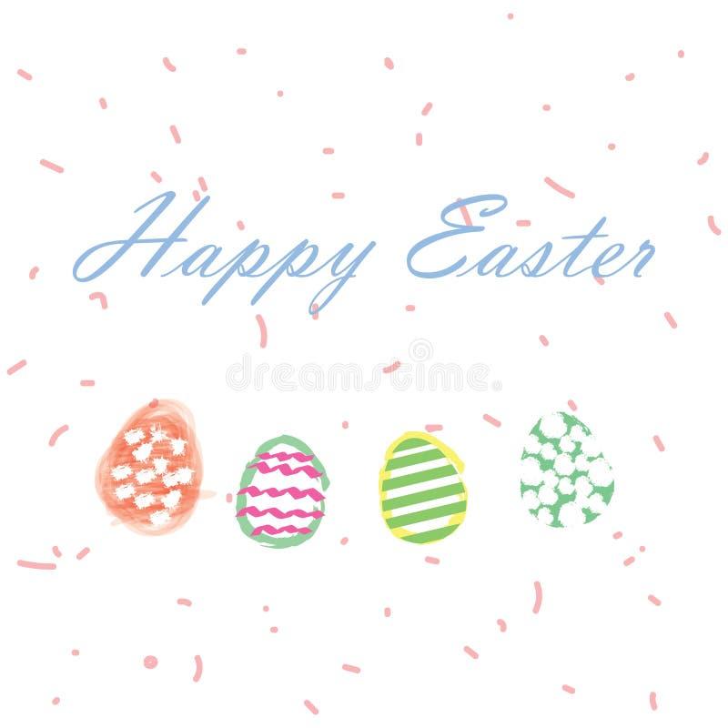 ζωηρόχρωμα αυγά Πάσχας ανα& απεικόνιση αποθεμάτων
