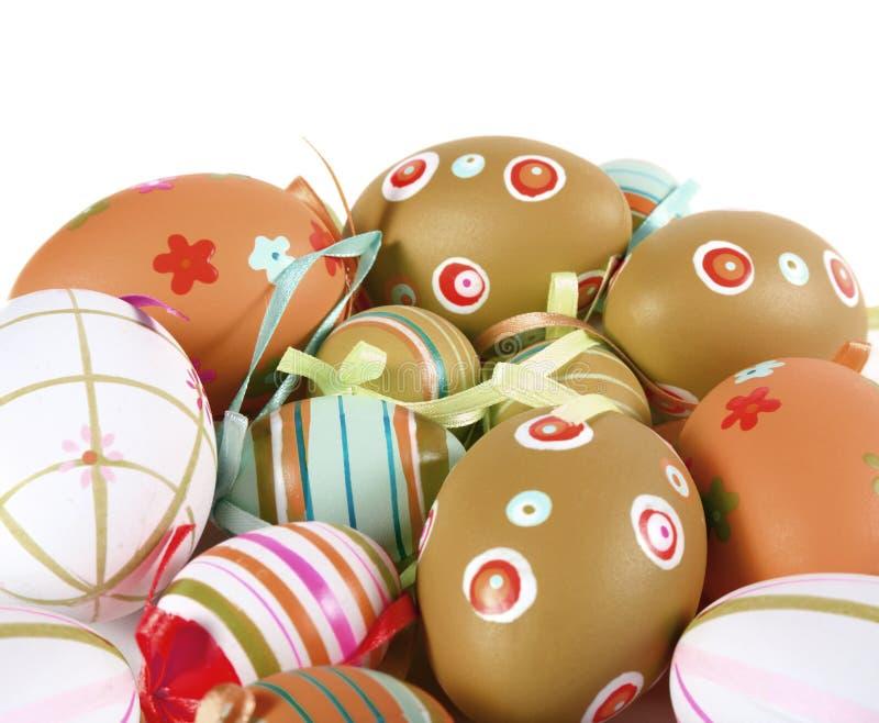 ζωηρόχρωμα αυγά Πάσχας πο&upsil στοκ φωτογραφία με δικαίωμα ελεύθερης χρήσης