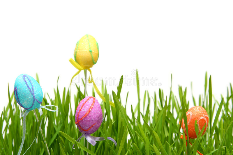 Ζωηρόχρωμα αυγά Πάσχας στοκ εικόνα με δικαίωμα ελεύθερης χρήσης