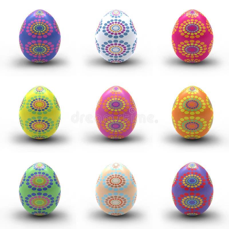 ζωηρόχρωμα αυγά Πάσχας διανυσματική απεικόνιση