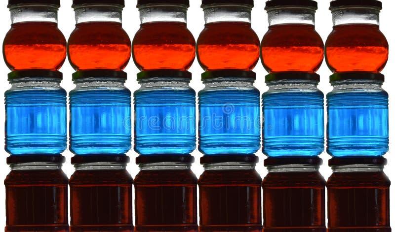 Ζωηρόχρωμα βάζα γυαλιού στοκ εικόνες με δικαίωμα ελεύθερης χρήσης