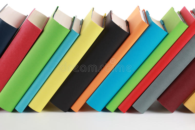 Ζωηρόχρωμα βιβλία στοκ φωτογραφίες