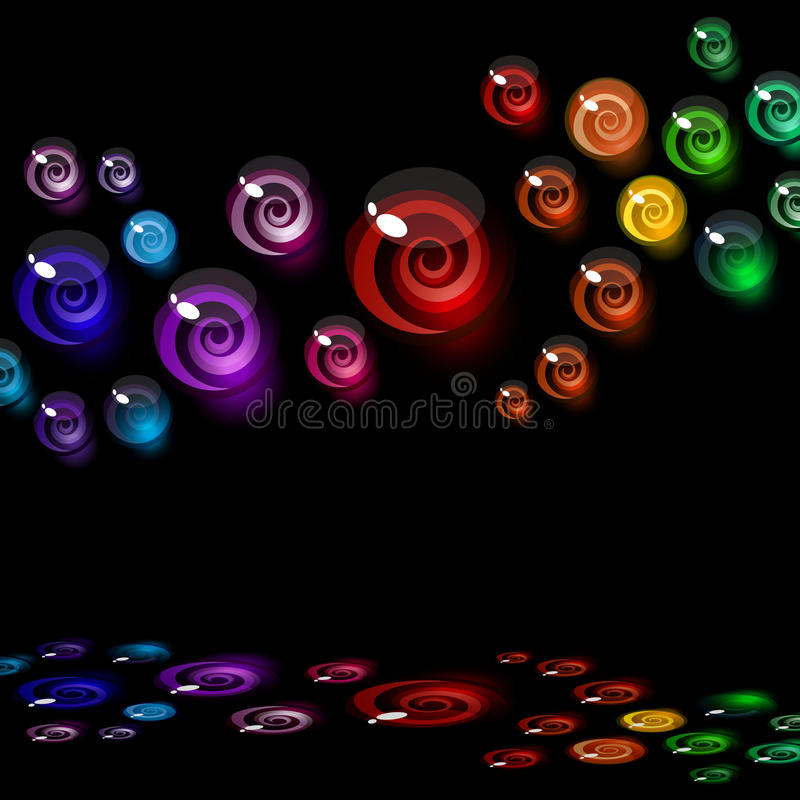ζωηρόχρωμα διακοσμητικά &sig ελεύθερη απεικόνιση δικαιώματος